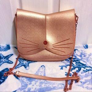 🐱 Ted Baker London Cat Rose Gold Crossbody Bag